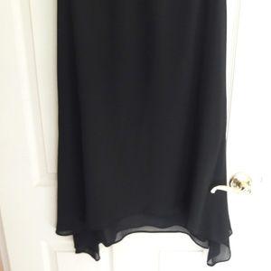 Dresses & Skirts - Long black Chiffon Skirt, 8P